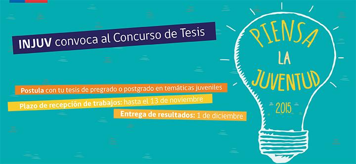 """Injuv convoca a una nueva versión del concurso de tesis """"Piensa la ..."""